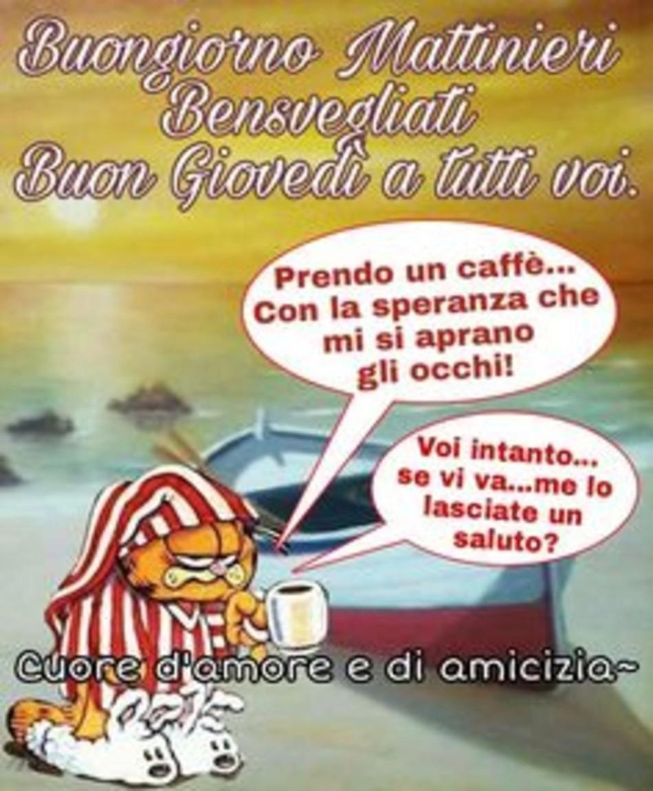 Buon Giovedì Garfield Immaginiwhatsapp It