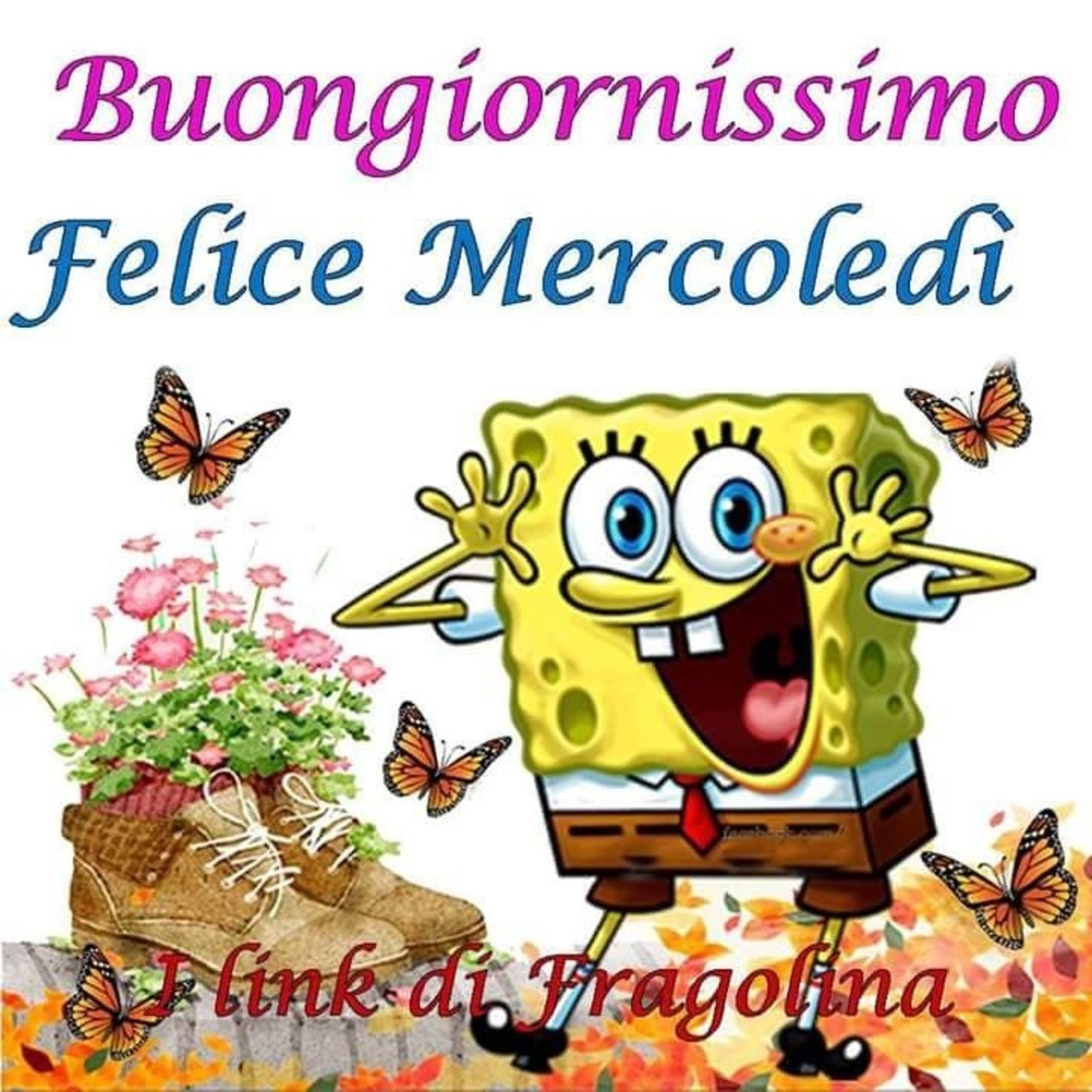 Buon Mercoledì Autunno Spongebob Immaginiwhatsapp It