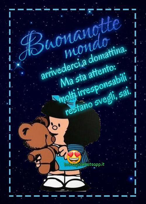 Buonanotte con le frasi di Mafalda