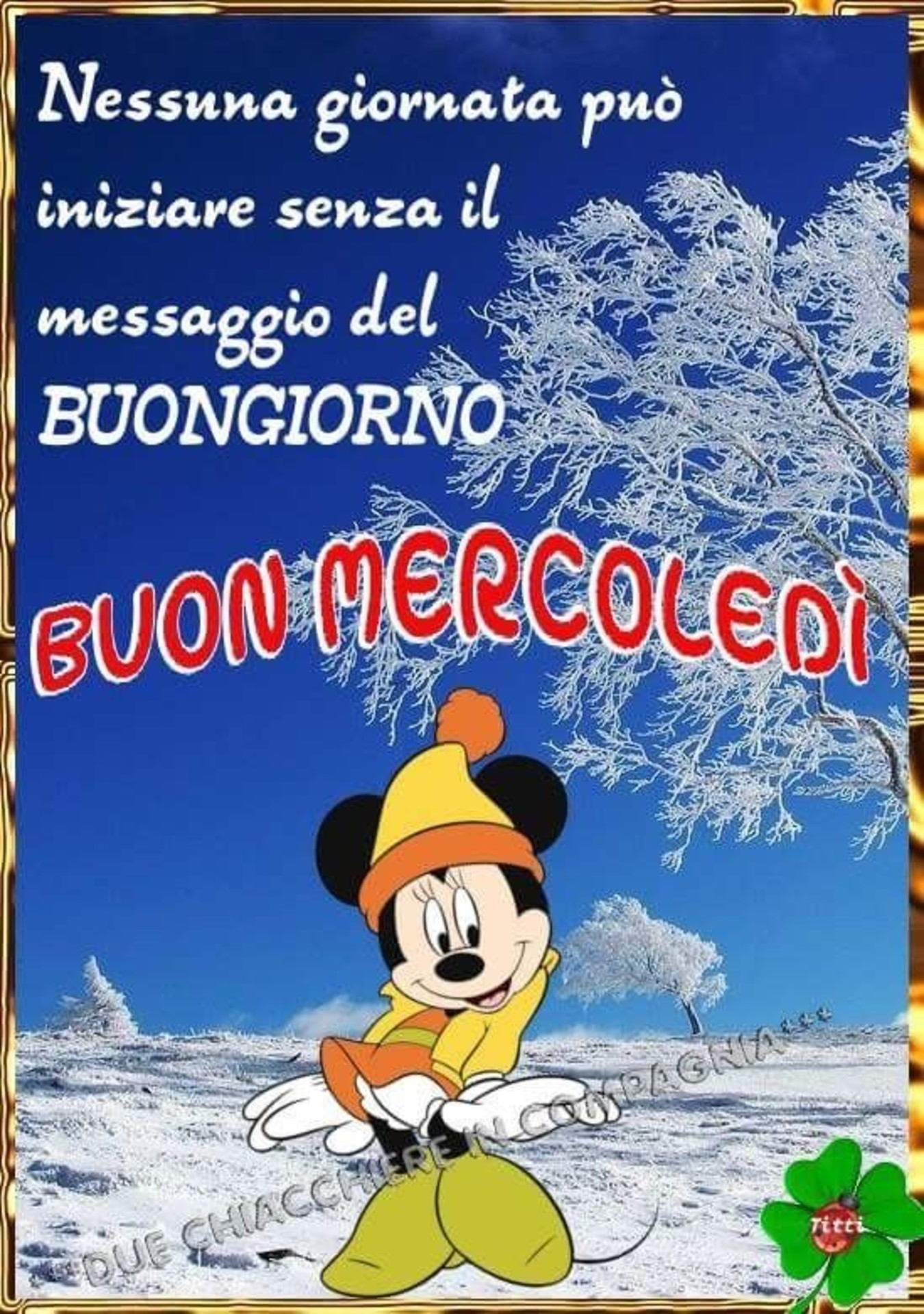 Buongiorno Mercoledi Inverno Immaginiwhatsapp It
