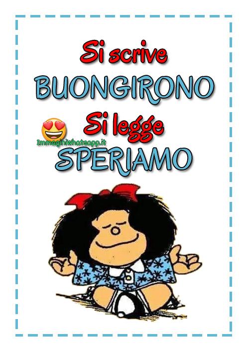 Buongiorno divertente con Mafalda