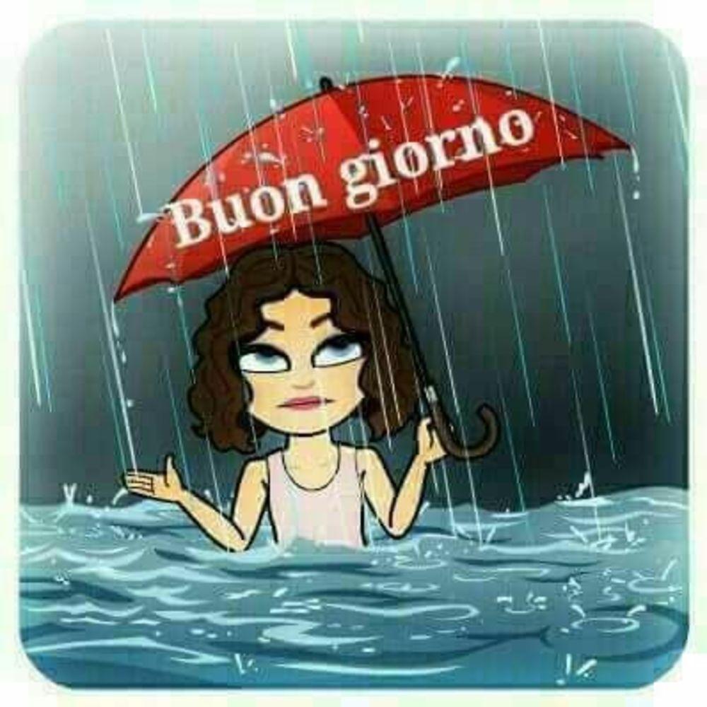Buongiorno piove WhatsApp