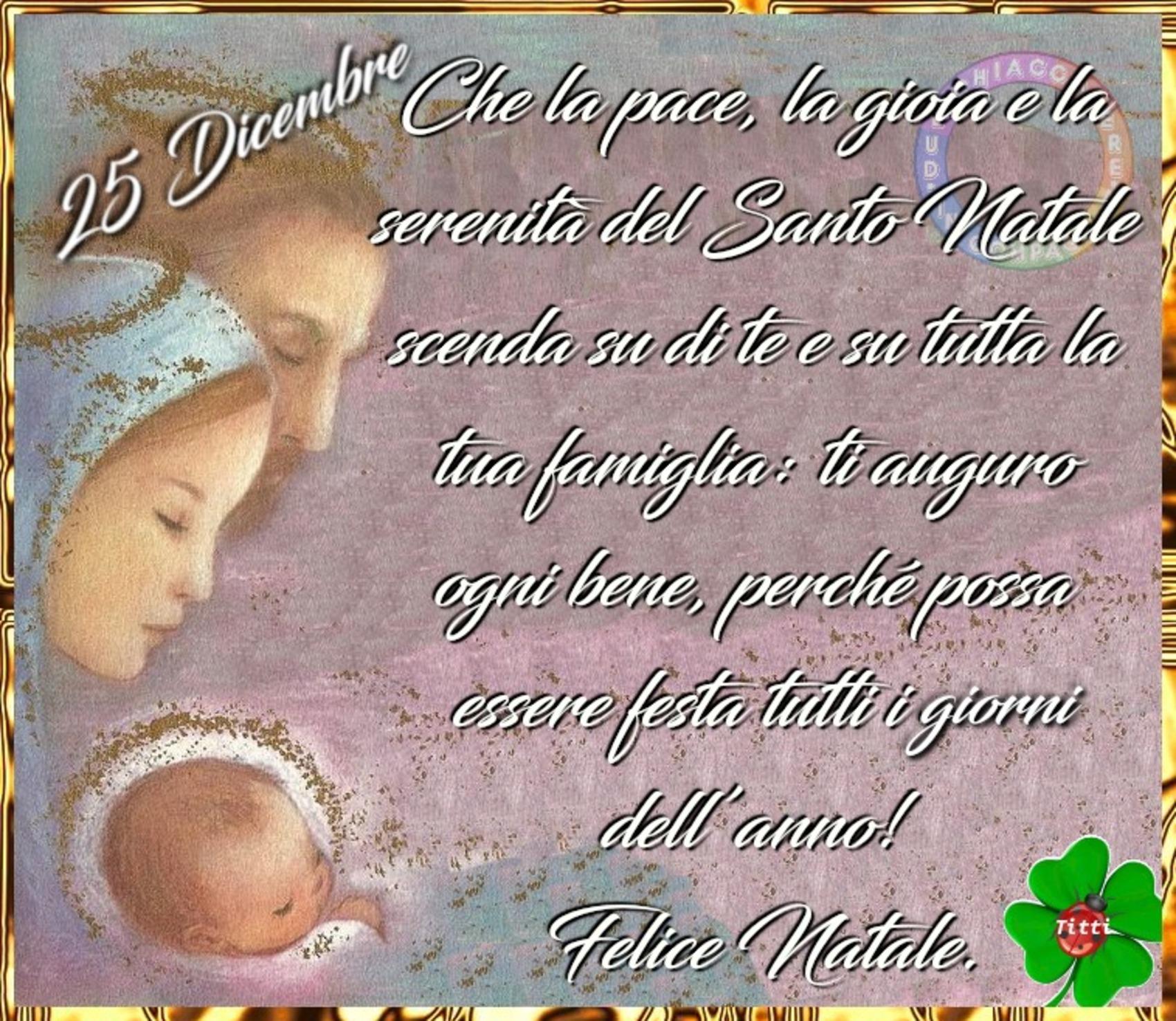 25 Dicembre Felice Natale con la Sacra Famiglia